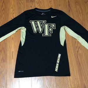 Nike Dri-Fit Wake Forest Long Sleeve Shirt Small